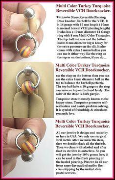 Fresh Water Pearl Reversible Door Knocker for Vertical Hood Piercing.