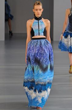 Peter Pilotto wetsuit evening dress, yes please.