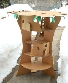 Juguetes caseros: la casa del árbol