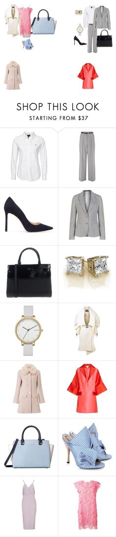 """Work"" by tancho-cts on Polyvore featuring мода, Miss Selfridge, Jimmy Choo, GANT, GUESS, Skagen, Burberry, Antonio Berardi, MICHAEL Michael Kors и N°21"