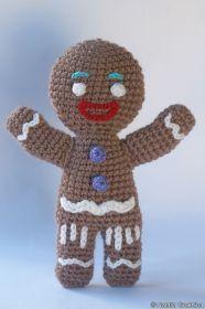 Gingerbread Man Amigurumi - Free Russian Pattern http://knitting-for-babies.ru/igrushki/vyazanyj-pryanya-avtorskoe-opisanie-ot-natali-grukhinoj