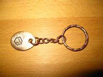 """Schlüsselanhänger """"Pfote"""" massiv bronze Handarbeit"""