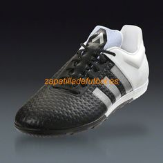 Zapatillas de futbol Sala Adidas Ace 15+ Primeknit CG Turf Negro Blanco