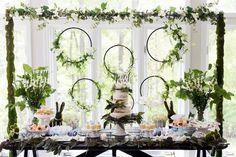 Garden dessert table from a Bunny Baby Shower on Kara's Party Ideas | KarasPartyIdeas.com (40)