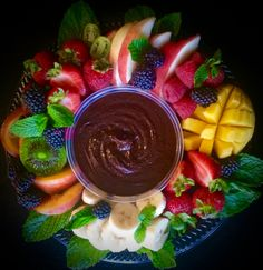 CHOCOLATE HUMMUS- contains a whole can of BLACK BEANS, but tastes like an ultra decadent chocolate dip! If you don't tell, no one will ever know it's HEALTHY!