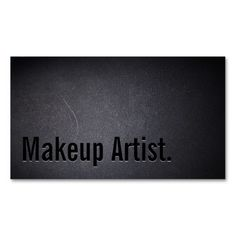 Professional Black Out Makeup Artist Business Card