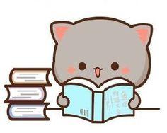 Cute Dog Drawing, Cute Bear Drawings, Cute Animal Drawings Kawaii, Kawaii Drawings, Cute Anime Cat, Cute Cat Gif, Cute Love Gif, Cute Love Pictures, Cute Kawaii Animals