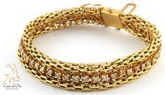 Diamond Bracelet 14K Yellow 1.5ctw