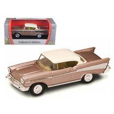 1957 Chevrolet Bel Air Pearl 1/43 Diecast Model Car by Road Signature