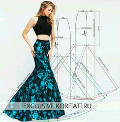Pattern of long skirt year ANASTASIA KORFIATI Luxury in its pure form!Interesting adaptation of a simple skirt pattern Sewing Dress, Dress Sewing Patterns, Sewing Clothes, Clothing Patterns, Fashion Sewing, Diy Fashion, Ideias Fashion, Costura Fashion, Diy Kleidung