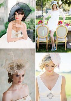 colorful bridal hats