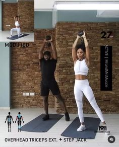 Fitness Workouts, Full Body Hiit Workout, Hiit Workout At Home, Gym Workout Videos, Gym Workout For Beginners, Fitness Workout For Women, Video Sport, Black Fitness, Workout Programs