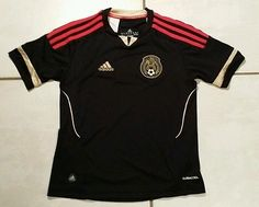 Rare ADIDAS Mexico National Team 2011 BLACK Away Soccer Jersey Youth Small