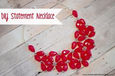 DIY Statement Necklace by Handmade is Better  ~ shared on DIY Showcase on VMG206. #diyshowcase #beading