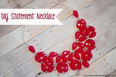 DIY Statement Necklace by Handmade is Better  ~ shared on DIY Showcase on VMG206. #diyshowcase #beading