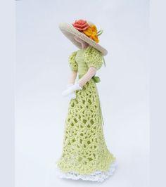 Crocheted doll art doll interior doll decorative by VasilisaSkaska
