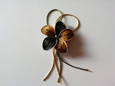 DIY: Broche o colgante de flor de cinco pétalos de cápsulas Nespresso re...