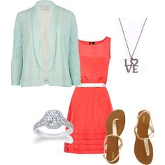 My first Polyvore....   Spring 2012-Mint and Tangerine, created by raganlee on Polyvore