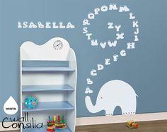 Baby Nursery Wall Decal  Elephant Wall Decal  by WallConsilia, $44.00