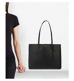SAINT LAURENT - Large leather tote | Selfridges.com