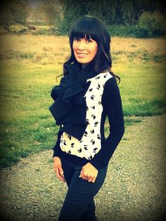 Ruffled Bow Scarf  MADETOORDER fleece  Many colors to by nikkisic Yay fall!