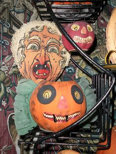 vintage german halloween decorations - German Halloween Decorations
