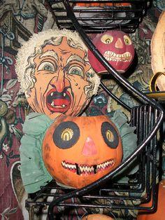 Vintage German Halloween decorations.
