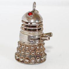 RARE 1960's Vintage DR WHO Dalek Sterling Silver Bracelet Charm Top Moves 9g #Unbranded #Charm