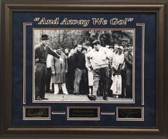 """Arnold Palmer and Jackie Gleason """"And Away We Go!""""  - 11x14 Photo with Engraved autographs - Playing golf at the Shawnee Country Club in Shawnee PA. Early 1960's - UV Protectant Glass and Suede top mat - Overall Framed Size 19x23  $99 FREE SHIPPING ON ALL ORDERS  #AndAwayWeGo #Gleason #Palmer #Golf #PGA #Masters #APInv #Masters #ShawneeCountryClub #iconmemorabilia #iconsandlegendsmemorabilia #framedart #memorabilia #sportsmemorabilia #golfmemorabilia #freeshipping"""