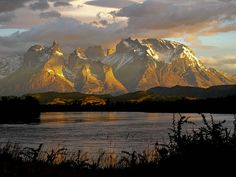 Sunrise Rio Serrano Torres del Paine, Chile #patagonia #adventure #landscapes #nature #mountains