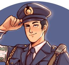 "RLG on Twitter: ""Mike Meekins reporting for duty 👮‍♂️ #AceAttorney… """