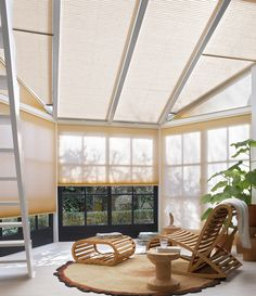 Need a bit of shade and coolness in the conservatory today? These Duette Shades from @LuxaflexUK  will keep you cool