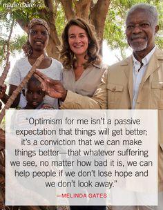Melinda Gates Quotes - Bill and Melinda Gates Foundation - Marie Claire