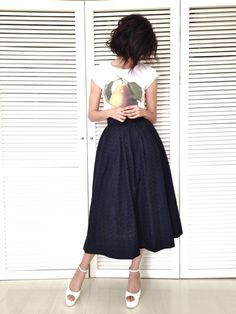 Nice skirt. love this with a tee.