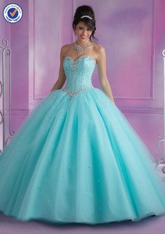 b7e4c683e0d 25 Best Blue Quinceanera Dresses images