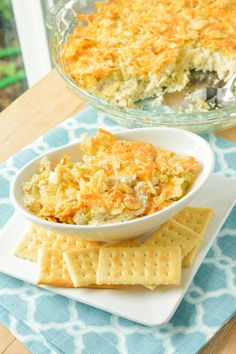Hot Chicken Salad Casserole! A dear friend has made this for about 50-years.. Delicious Years! We (all of us old grandmas) make it for our children's family, and when grandchildren come for a weekend.. Yep! They want this! Oh! And chips with dip while watching a movie!