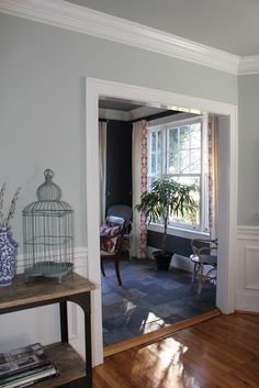 restoration hardware paint, serena & lily chairs, quadrille fabric, pink chandelier  Pawleys Island Posh  Pawleys Island Posh