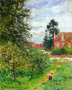 Camille Pissarro 1830-1903 La Maison Des Anglais, Éragny C.1902