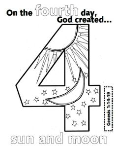The second Day of creation | Creation coloring pages, Coloring ... | 306x236