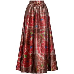 Temperley London Long Arazzi Skirt (33,260 MXN) ❤ liked on Polyvore featuring skirts, multicolor skirt, colorful skirts, long colorful maxi skirts, long skirts and multi colored maxi skirt