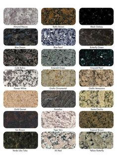 Emerald pearl is the granite in the kitchen and the Flower White is in the bathrooms in the apartment .---Best Color for Granite Countertops Granite Countertops Colors, Granite Colors, Kitchen Countertops, Granite Kitchen, Laminate Countertops, Faux Granite, Granite Flooring, Kitchen Cabinets, Kitchen Islands