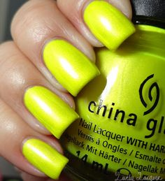 'Sun-Kissed' in artificial lighting. Summer 2012 Neon Collection - highlighter yellow neon.