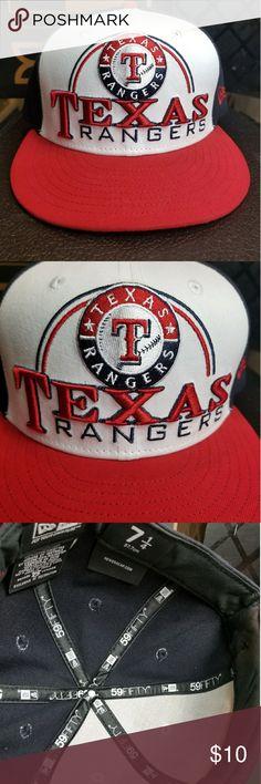 Texas rangers 7 1/4 new era cap Mlb rangers 7 1/4 cap New Era Accessories Hats
