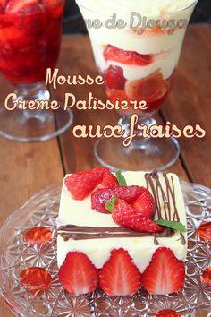 Mousse de crème pâtissière légère aux fraises
