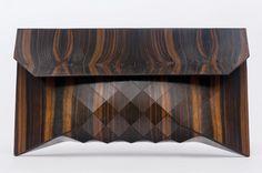 Rosewood clutch by TeslerMendelovitch