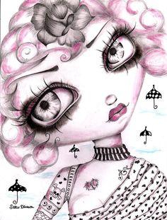 Gypsy Rose by Dottie Gleason Girly Tattoo Artwork Canvas Fine Print – moodswingsonthenet