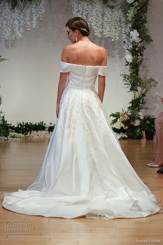 sarah jassir 2017 bridal off the shoulder straight across neckline heavily embellished bodice princess a  line wedding dress chapel train (9) bv
