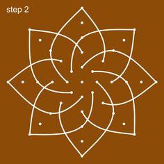 Lakshmi Hridaya Rangoli Step 2