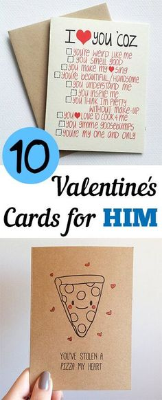 10 totally not cheesy Valentines Day cards for the man in your life.