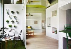 Tiny Perimeter apartment with Smart Design solutions Decorating a small space With style and so that it is contained all that is Necessary is a challenge...